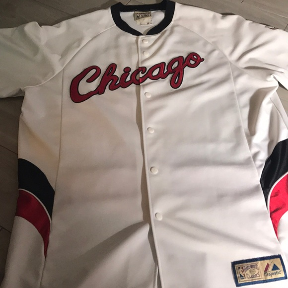 sports shoes 11f7d 7d7e4 NBA Chicago Bulls Vintage Baseball Jersey